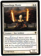 Stoneforge Mystic (1) - Worldwake - Signed by artist Mike Bierek
