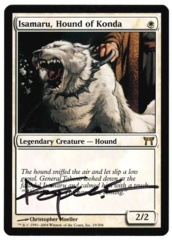 Isamaru, Hound of Konda (1) - Champions - Signed by artist Christopher Moeller