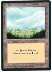 Forest (2) - German FBB Revised - MISPRINT - Plains art