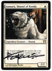 Isamaru, Hound of Konda (2) - Champions - Signed by artist Christopher Moeller