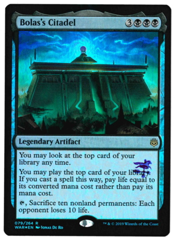 Bolass Citadel - Foil - War of the Spark - STAMPED