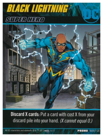 DC Comics Deck-Building Game: Black Lightning promo