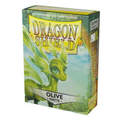DRAGON SHIELD: MATTE OLIVE CARD SLEEVES (60CT)