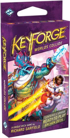 KeyForge: Worlds Collide deck display