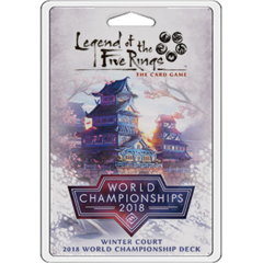 Legend of the Five Rings: World Championship 2018 Winter Court deck