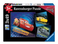 3 x 49 piece puzzle: Cars 3