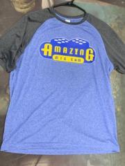 Blue Men's Baseball Shirt