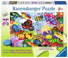 24 piece puzzle: Cute Bugs