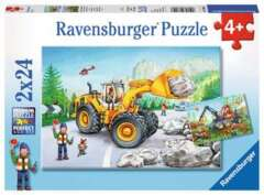 2 x 24 piece puzzles: Diggers at Work