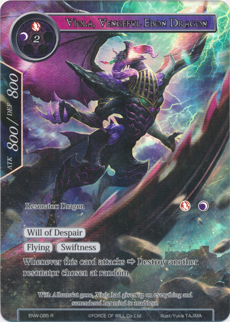 Viola, Vengeful Ebon Dragon (Full Art) - ENW-095 - R