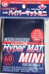 KMC Mini Sized Hyper Matte Black Sleeves 60 CT