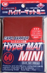 KMC Mini Sized Hyper Matte Red Sleeves 60 CT