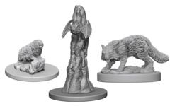 WizKids Deep Cuts Unpainted Miniatures: W4 Familiars