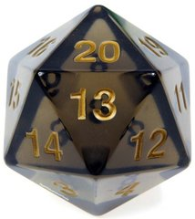 Transparent: 55mm D20 Countdown Smoke/Gold