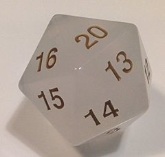 Transparent: 55mm D20 Countdown Pearl/Gold