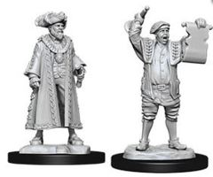 WizKids Deep Cuts Unpainted Miniatures: W10 Mayor & Town Crier