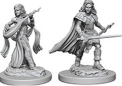 Pathfinder Deep Cuts Unpainted Miniatures: W4 Human Female Bard
