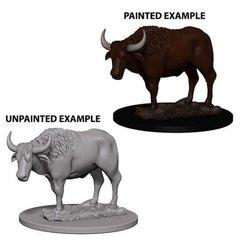 WizKids Deep Cuts Unpainted Miniatures: W4 Oxen