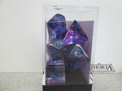 27557 Chessex Nebula  Nocturnal/Blue 7 die set