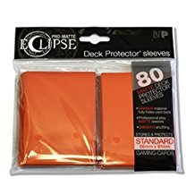 PRO-Matte Eclipse Orange Standard Deck Protector sleeves