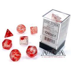 27554 Chessex Luminary Nebula Red/Silver 7 die set
