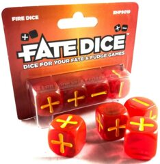 Fate Core RPG: Fate Dice - Fire