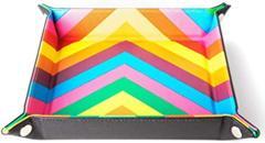 Folding Dice Tray: Leather Rainbow