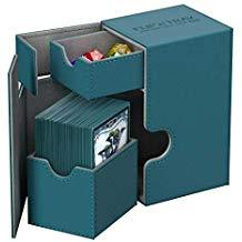 Twin Flip N Tray 80+ Xenoskin Deck Box, Petrol Blue