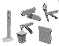 WizKids Deep Cuts Unpainted Miniatures: W10 Signs & Lights