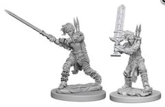 Pathfinder Deep Cuts Unpainted Miniatures: W6 Human Female Barbarian