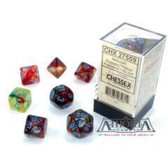27559 Chessex Luminary Nebula Primary/Blue 7 dice set