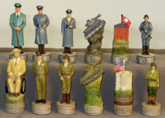 World War II Chess Set - U.S. vs. Germany