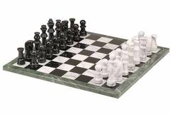 Marble Chess Set - Black & White (18
