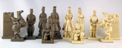 Chinese Qin Terra Cotta Army Chess Set
