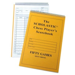 SCHOLASTIC Chess Player's Scorebook