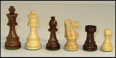 French Lardy Chess Set in Sheesham - 3.5