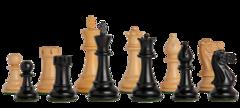 Classic Series Chess Set in Ebonized Boxwood - 3.5