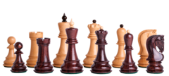 Zagreb '59 Series Chess Set in Rosewood - 2.875
