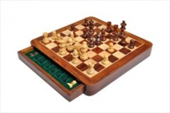 Wooden Magnetic Travel Chess Set - 10