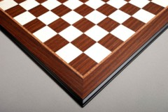 Striped Ebony and Bird's Eye Maple Chessboard