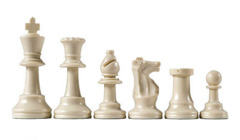 White Plastic Chess Pieces