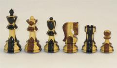 Inlaid Ebony & Sheesham Chess Set - 3.75