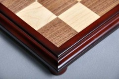 Walnut and Maple Raised Chessboard