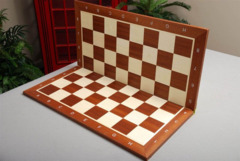 Folding Mahogany Tournament Chessboard