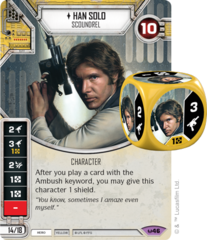 Han Solo - Scoundrel (Sold with matching Die)