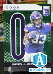 "Dalvin Cook 2020 Donruss Elite Spellbound ""O"" Exclusive Green Parallel"