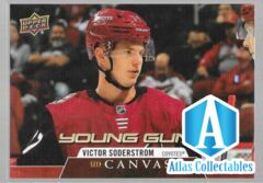 20/21 Upper Deck Canvas Young Guns Rookie Victor Soderstrom C103 Coyotes