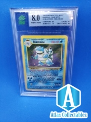 Blastoise 2/130 Base Set 2 Holo Rare - GRADED 8.0 MNT MINT (like PSA)