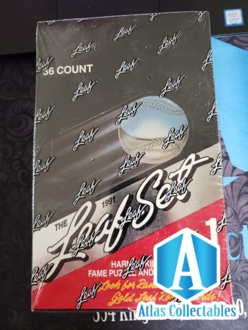 1991 Leaf Set Series 1 Baseball Hobby Box Factory Sealed 36 Pack