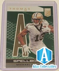 2020 Panini Elite Football Michael Thomas Spellbound GREEN